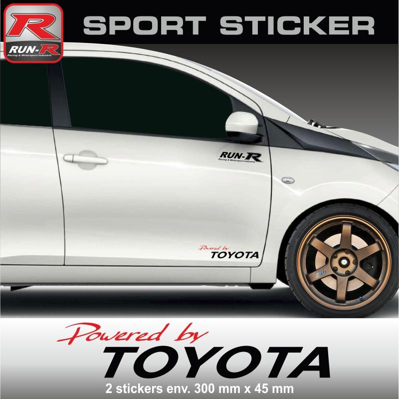 adhesifs toyota run r stickers by powered pw12rn. Black Bedroom Furniture Sets. Home Design Ideas