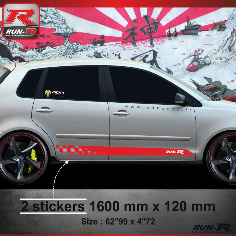 adhesifs volkswagen run r stickers sticker vw polo 9n. Black Bedroom Furniture Sets. Home Design Ideas