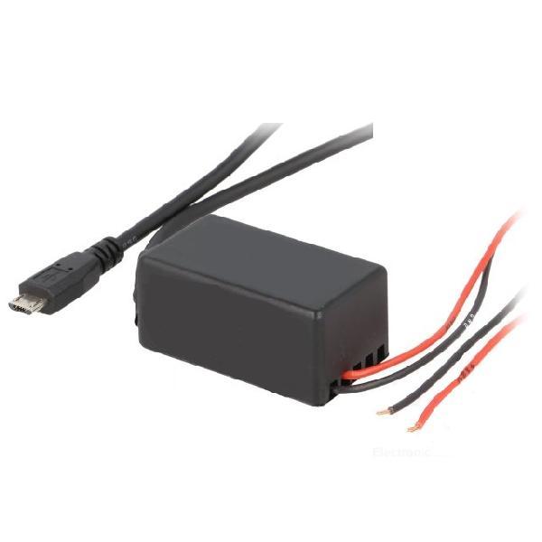 Alimentation Allume-cigare/Micro-USB - 5V/2.1A - 0.9m