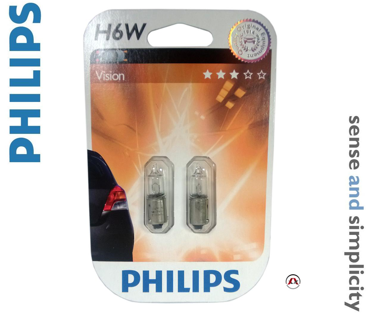 ampoule voiture ba 12v philips h6w vision philips. Black Bedroom Furniture Sets. Home Design Ideas