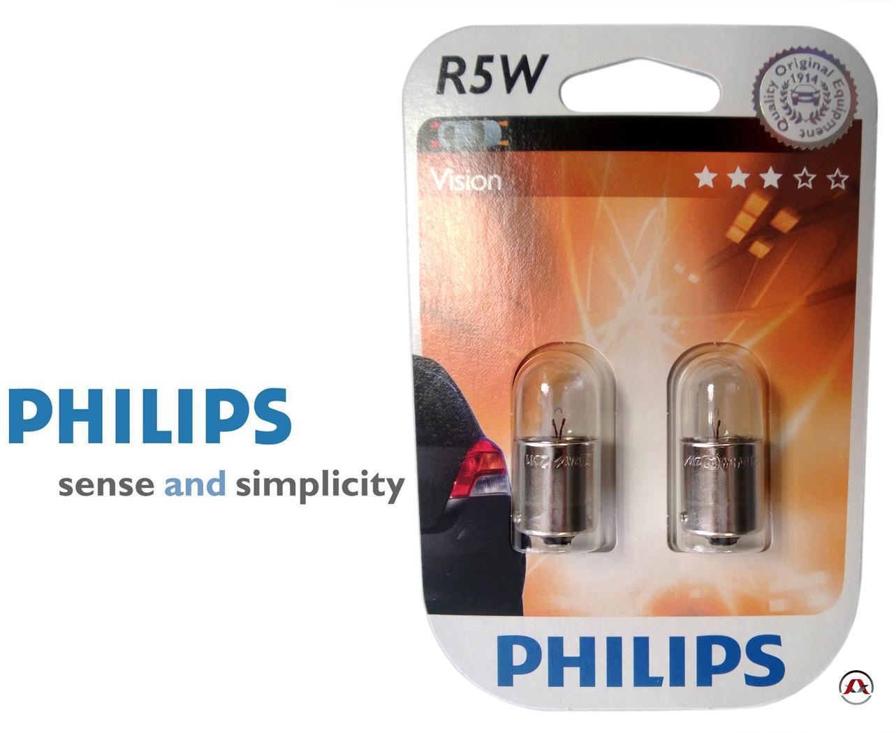 ampoule voiture ba 12v philips r5w vision philips. Black Bedroom Furniture Sets. Home Design Ideas