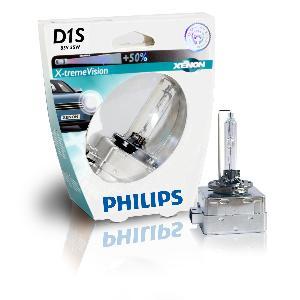 Ampoules de Rechange Kit Xenon Philips - 1 ampoule Xenon D1S Xtrem Vision 12V -85415XVS1-