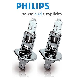 mid 2 ampoules ecovision h1 12v 55w homologue philips 120346. Black Bedroom Furniture Sets. Home Design Ideas