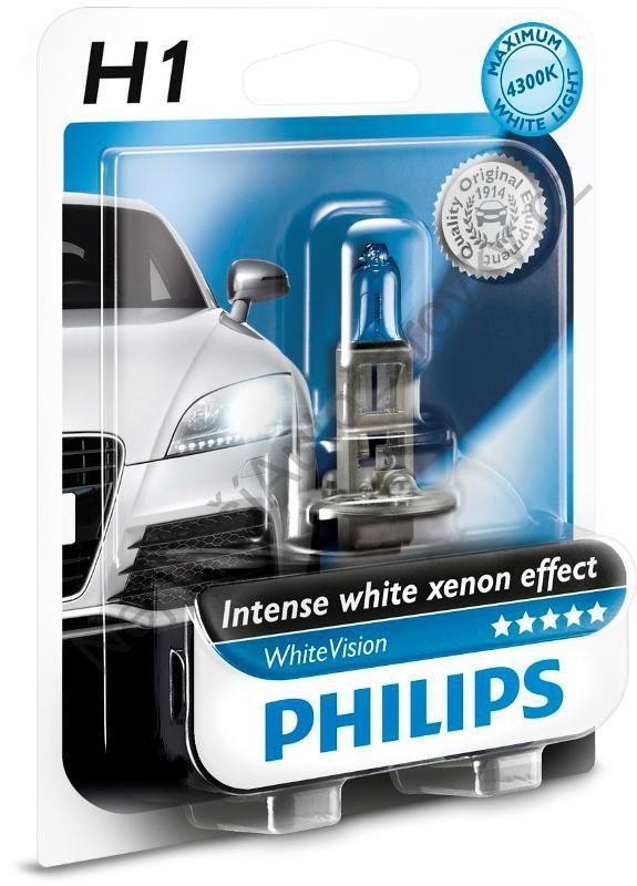 philips 1 ampoule h1 12v 55w 4300k whitevision 12258whvb1 228140. Black Bedroom Furniture Sets. Home Design Ideas