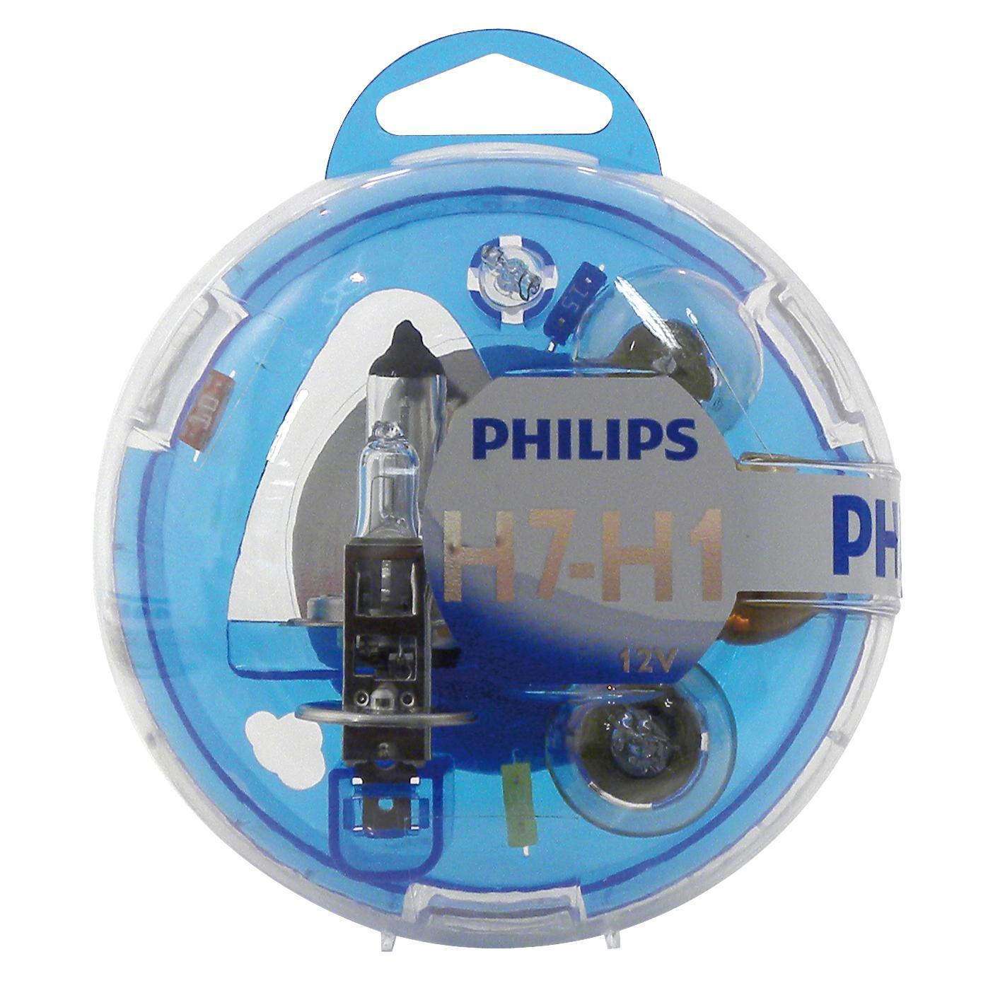 ampoule voiture h1 12v philips box h1 h7 philips. Black Bedroom Furniture Sets. Home Design Ideas