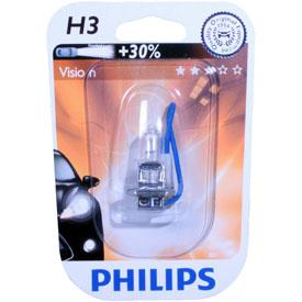 ampoule voiture h3 12v philips 1 ampoule h3 vision. Black Bedroom Furniture Sets. Home Design Ideas
