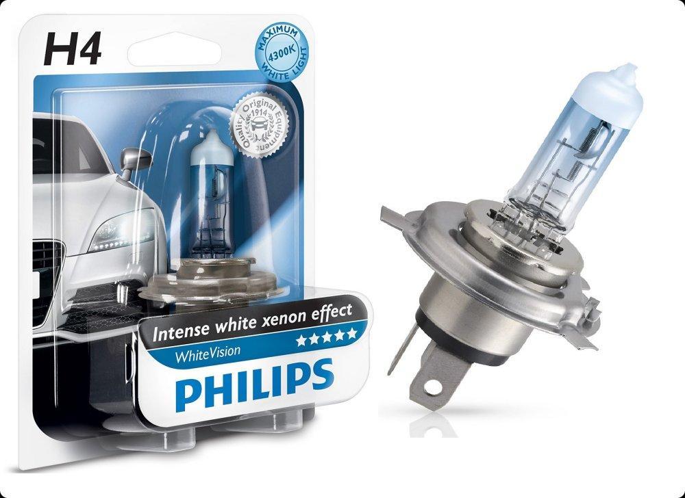 philips 1 ampoule h4 12v 55w 4300k whitevision 12342whvb1 228145. Black Bedroom Furniture Sets. Home Design Ideas