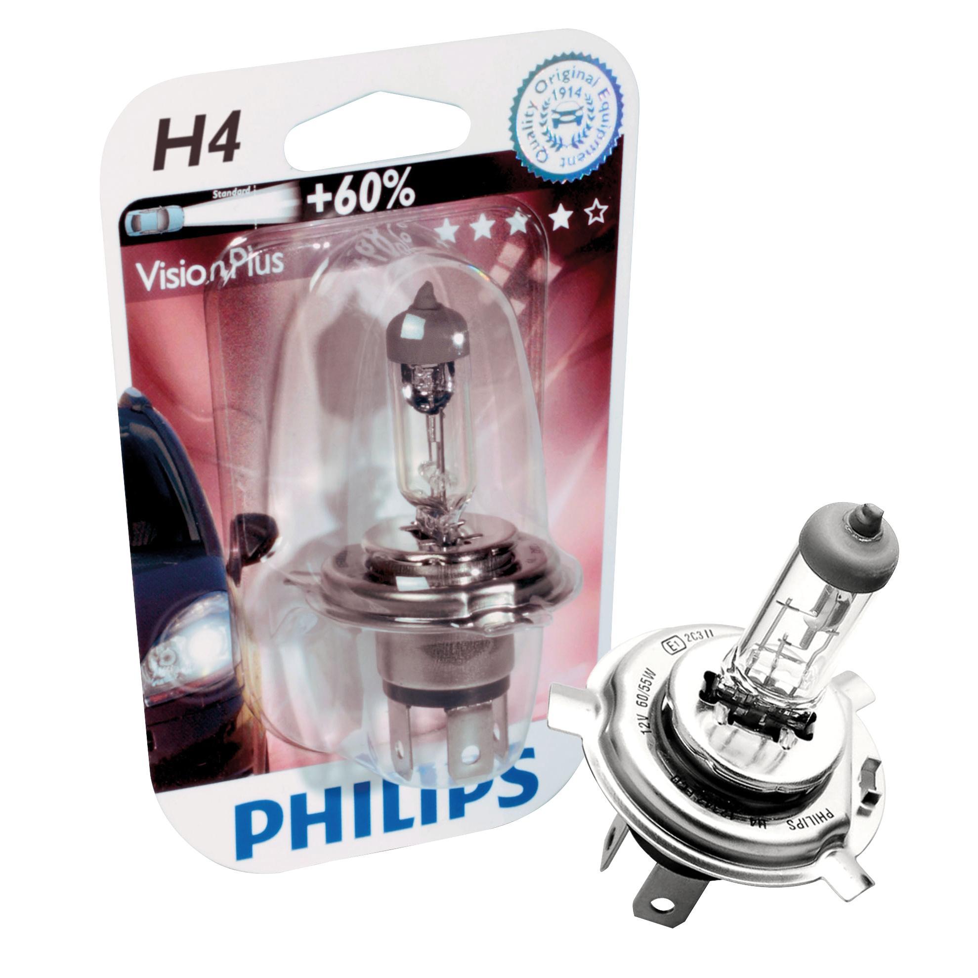 ampoule voiture h4 12v philips vision 60 philips. Black Bedroom Furniture Sets. Home Design Ideas