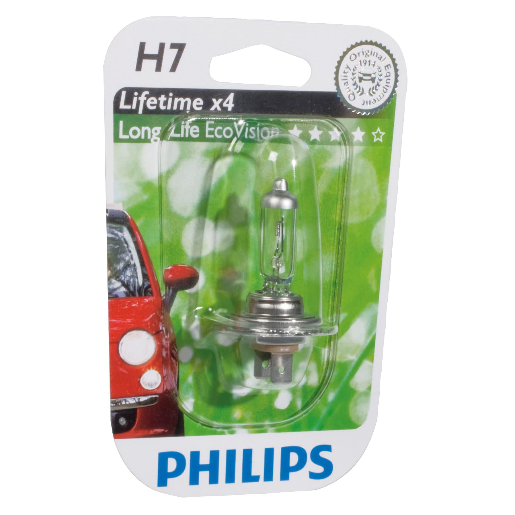 ampoule voiture h7 12v philips 1 ampoule h7 longerl. Black Bedroom Furniture Sets. Home Design Ideas
