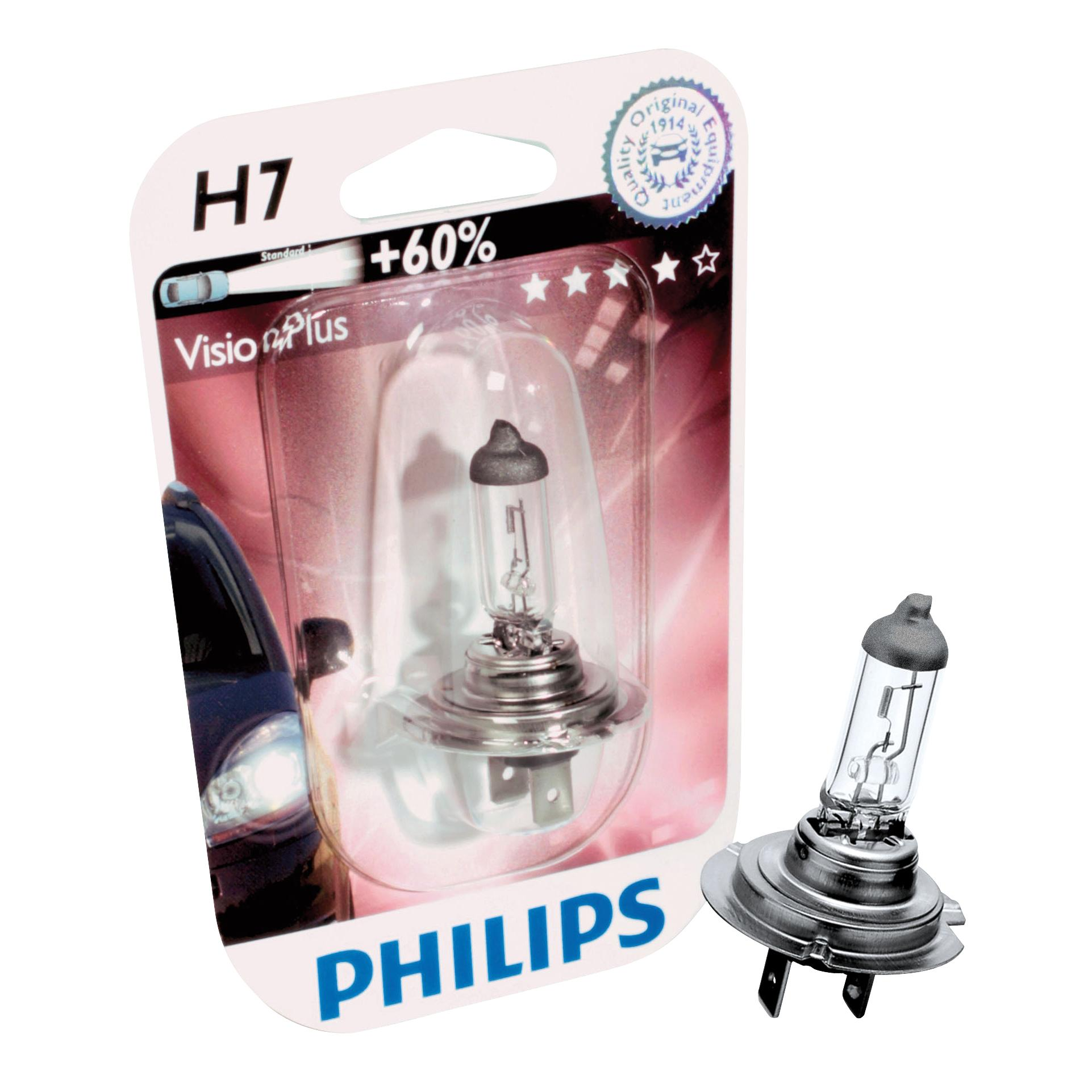 ampoule voiture h7 12v philips h7 vision plus 60. Black Bedroom Furniture Sets. Home Design Ideas