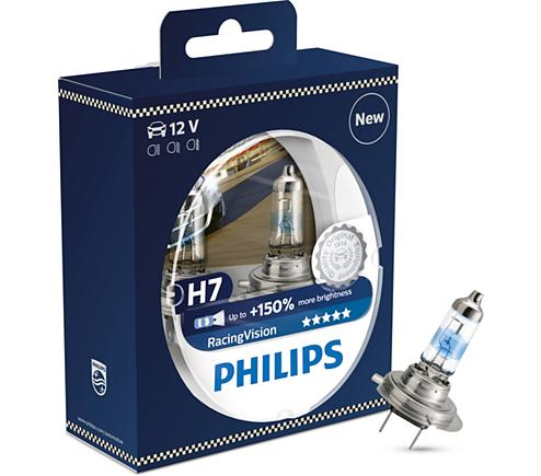 ampoule voiture h7 12v philips 2 ampoules h7 racing. Black Bedroom Furniture Sets. Home Design Ideas