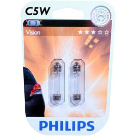 ampoule voiture navette philips 2 ampoules c5w visio. Black Bedroom Furniture Sets. Home Design Ideas