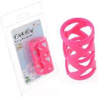 Anneaux pour penis Charmly - Cockring rose en silicone