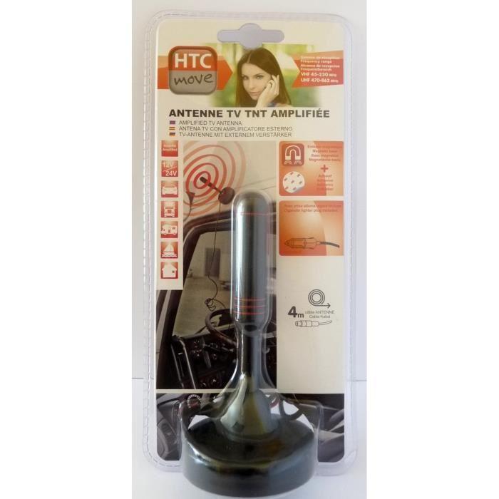 htc antenne tv tnt digitale terrestre avec amplificateur 12 24v 293423. Black Bedroom Furniture Sets. Home Design Ideas