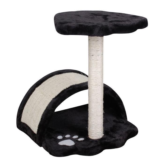 aucune arbre a chat 35x35xh44 cm noir et blanc 429272. Black Bedroom Furniture Sets. Home Design Ideas
