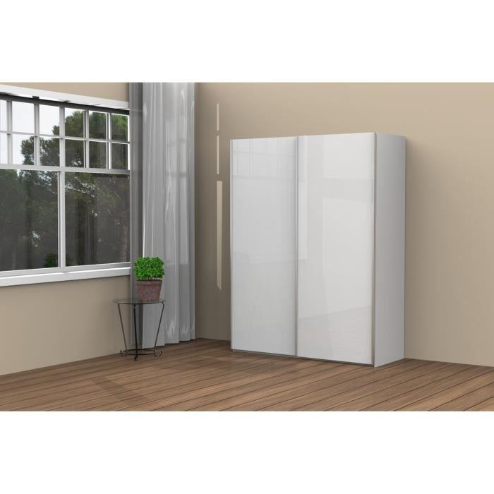 aucune cordoba armoire dressing 150x60cm blanc brillant 269594. Black Bedroom Furniture Sets. Home Design Ideas