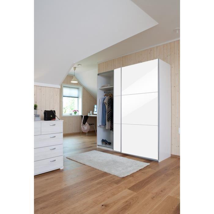 aucune cordoba armoire dressing 150x60cm blanc. Black Bedroom Furniture Sets. Home Design Ideas