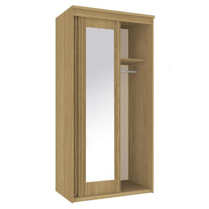 aucune capri armoire de chambre 140 cm blanc mat et noir 367222. Black Bedroom Furniture Sets. Home Design Ideas