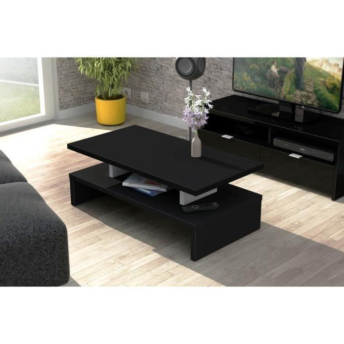 aucune after table basse 84 cm decor noir 300117. Black Bedroom Furniture Sets. Home Design Ideas