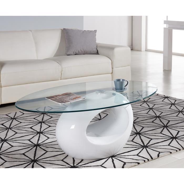 Aucune best table basse 110x70cm fibre de verre laqu e blanc 293788 - Table basse fibre de verre ...