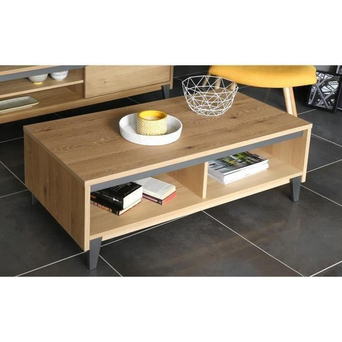 aucune bricklane table basse 120x60 cm plaqu chene blanchi 392305. Black Bedroom Furniture Sets. Home Design Ideas