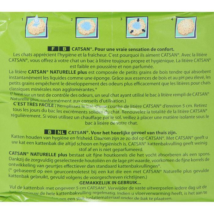 CATSAN Litiere Végétale Plus 10l -x4- 2