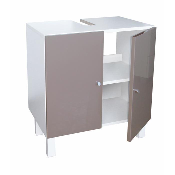 Aucune corail meuble sous lavabo 60 cm gris taupe 266325 - Meuble sous lavabo 60 cm ...