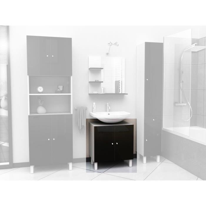 Aucune corail meuble sous lavabo 60 cm noir 250894 - Meuble sous lavabo 60 cm ...
