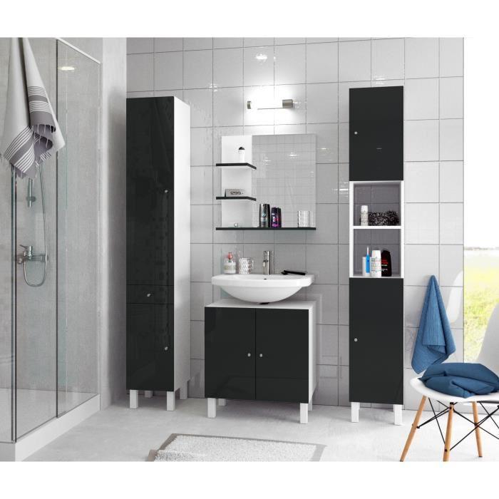 aucune corail meuble sous lavabo 60 cm noir 250894. Black Bedroom Furniture Sets. Home Design Ideas