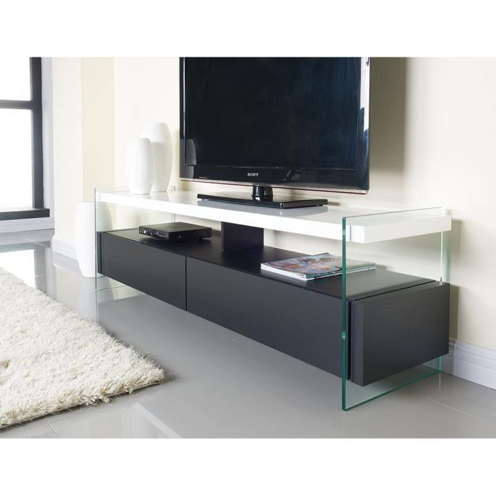 aucune crea meuble tv 160cm laqu blanc brillant 303694. Black Bedroom Furniture Sets. Home Design Ideas