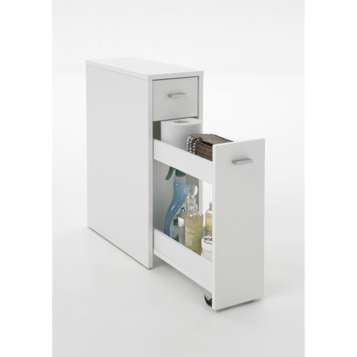 aucune denia meuble salle de bain wc 20x45 cm blanc 285202. Black Bedroom Furniture Sets. Home Design Ideas