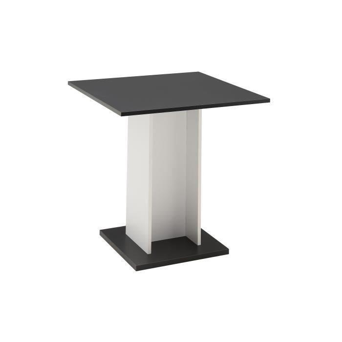 aucune gustave table a manger 80x80 cm noir et blanc 362021. Black Bedroom Furniture Sets. Home Design Ideas