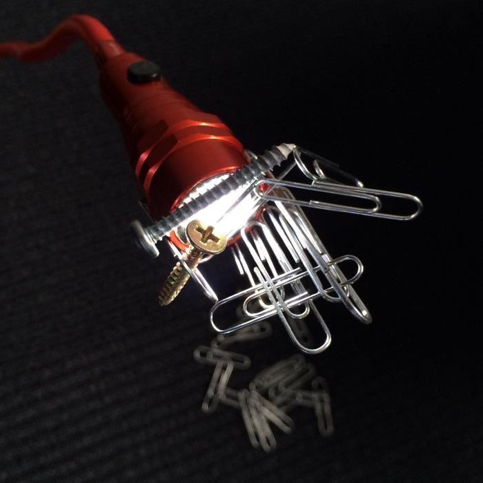 Lampe De Poche Led Flexible A Double Eclairage Clever Scope Rouge 488672