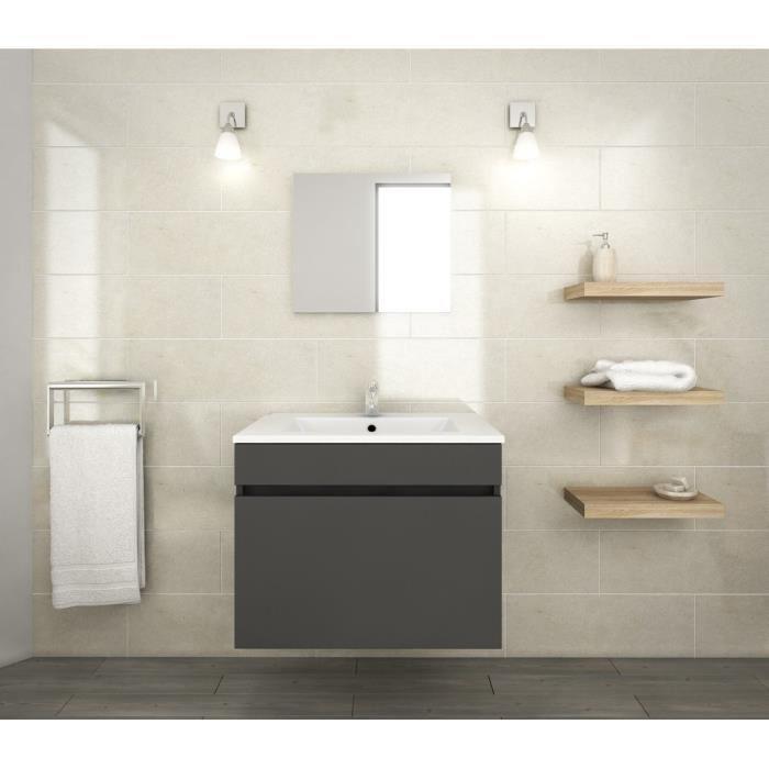 Lana ensemble de meubles de salle de bain vasque for Ensemble meuble de salle de bain miroir couleur olme gris