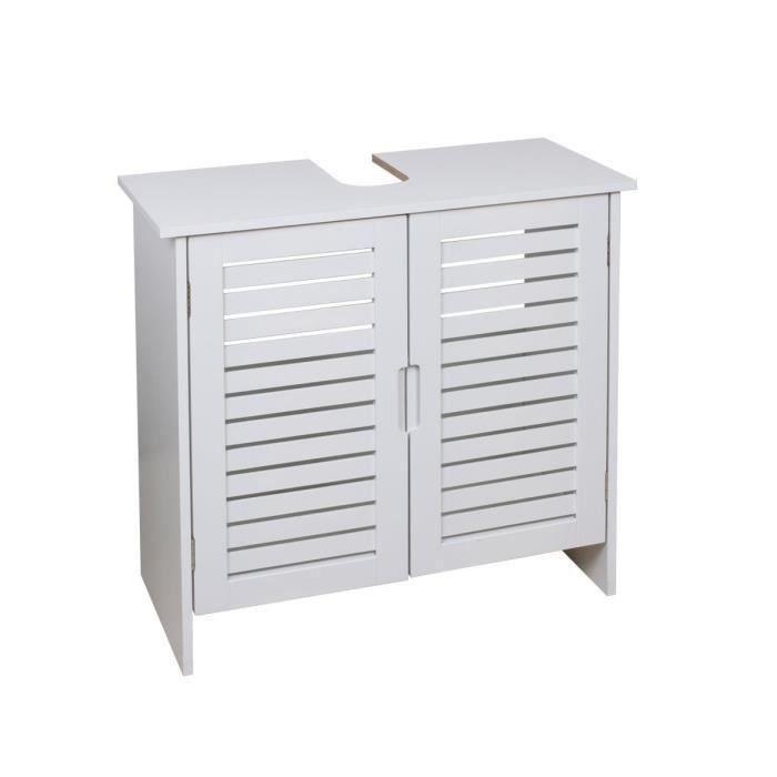 aucune linda meuble sous lavabo 60 cm blanc 292302. Black Bedroom Furniture Sets. Home Design Ideas