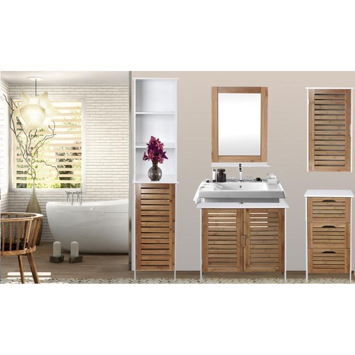Aucune linda meuble sous lavabo 60 cm marron 292301 - Meuble sous lavabo 60 cm ...