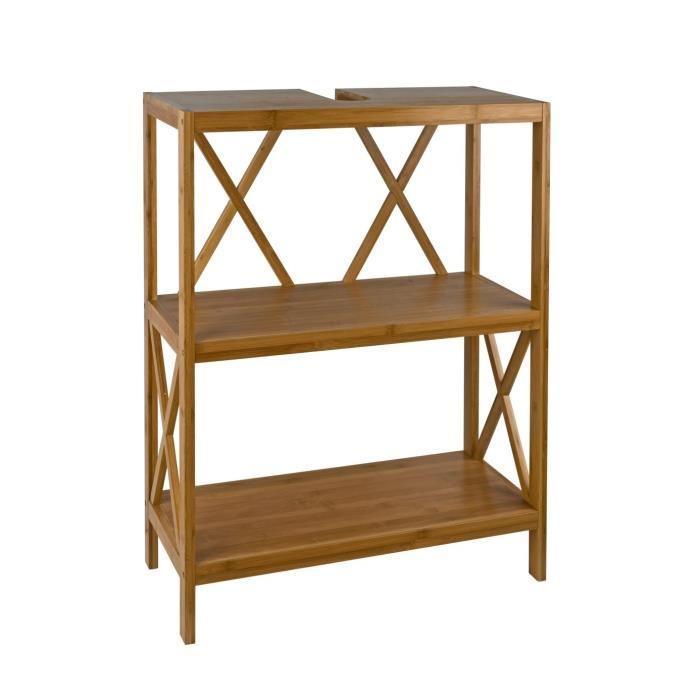 aucune meuble sous lavabo 63x90 cm finition huil e bambou 250889. Black Bedroom Furniture Sets. Home Design Ideas