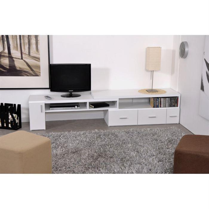 Aucune slide meuble tv extensible blanc 265740 - Meuble tv extensible ...