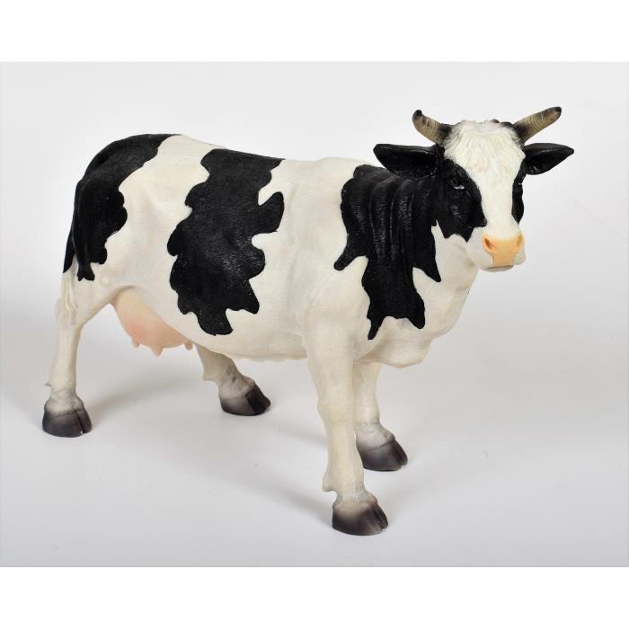 Aucune - Statue décoration jardin Vache en résine - 56x19.5x38.5 ...