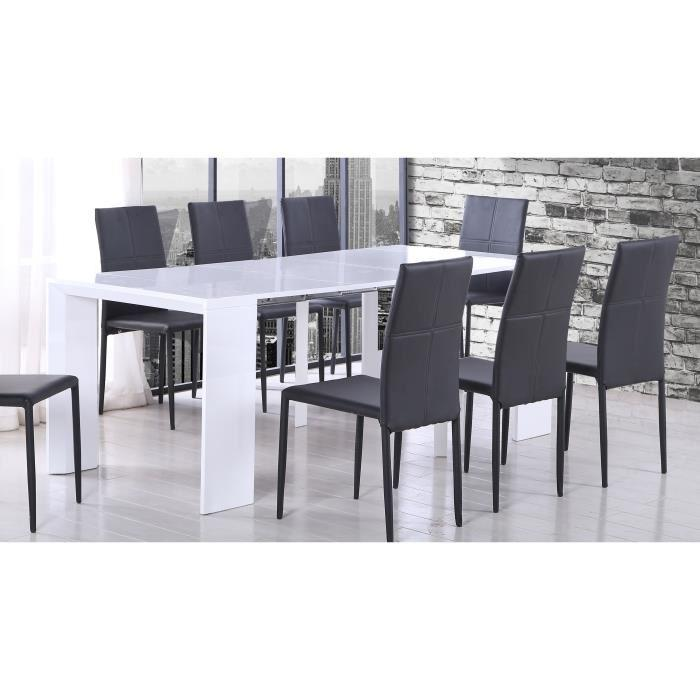 aucune tack table console extensible 48 250x90cm blanc laqu 292377. Black Bedroom Furniture Sets. Home Design Ideas