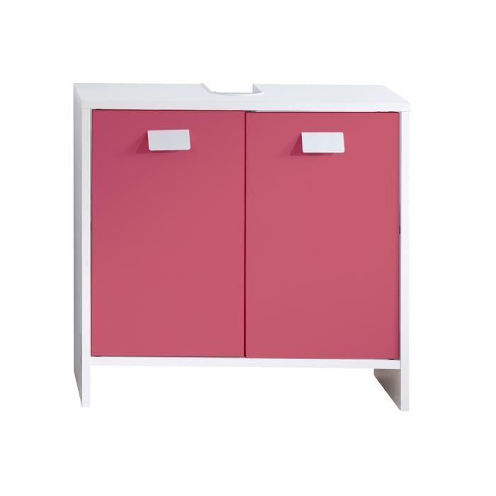 Aucune top meuble sous vasque 60 cm blanc et fuchsia for Meuble vasque 60 cm