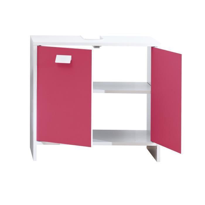 Aucune top meuble sous vasque 60 cm blanc et fuchsia for Meuble sous vasque 60 cm