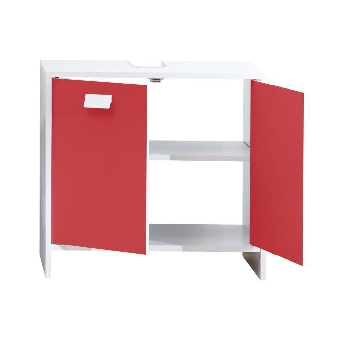 aucune top meuble sous vasque 60 cm blanc et rouge 380485. Black Bedroom Furniture Sets. Home Design Ideas