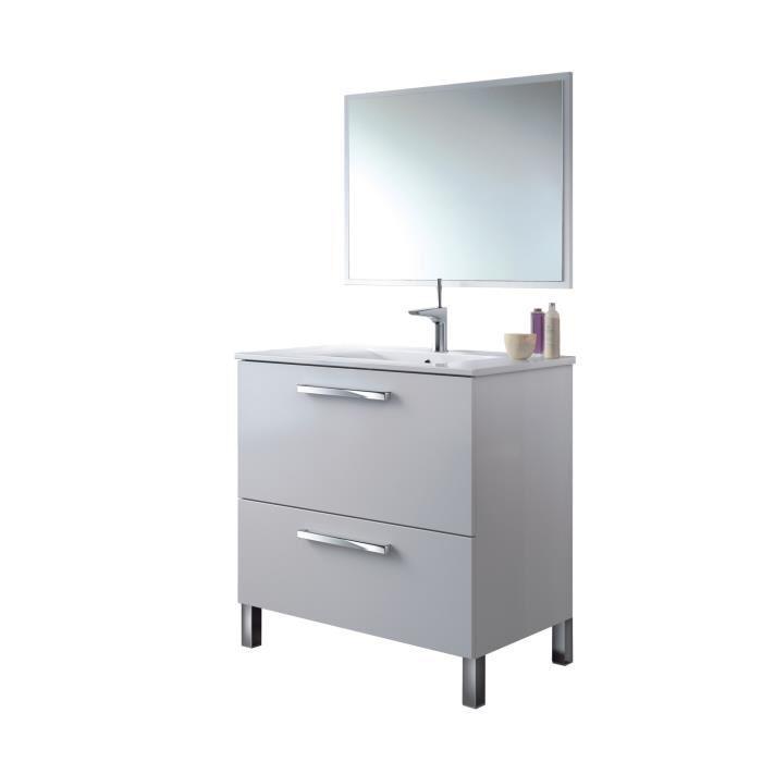 aucune urban meuble salle de bain complet blanc brillant 241897. Black Bedroom Furniture Sets. Home Design Ideas