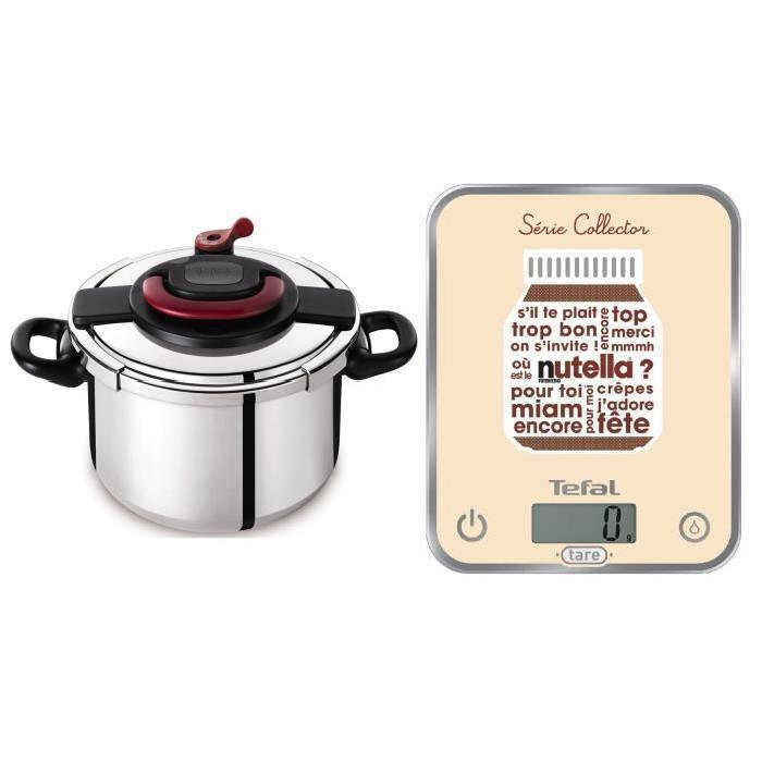 SEB CLIPSO PLUS Autocuiseur 10 L + Balance Optiss Nutella YY3064FA ...