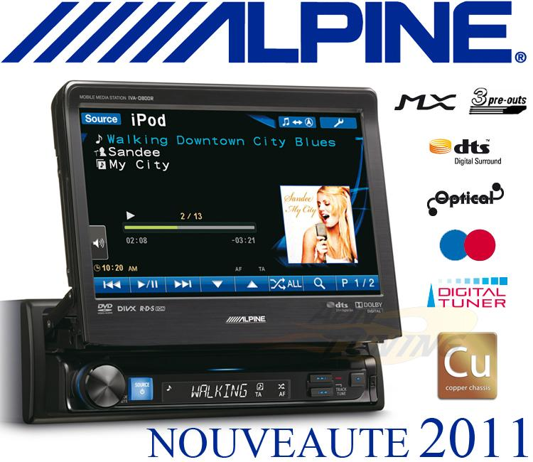 autoradio alpine autoradio ecran autoradio 1din cd dvd divx mp3 ipod usb 129205. Black Bedroom Furniture Sets. Home Design Ideas