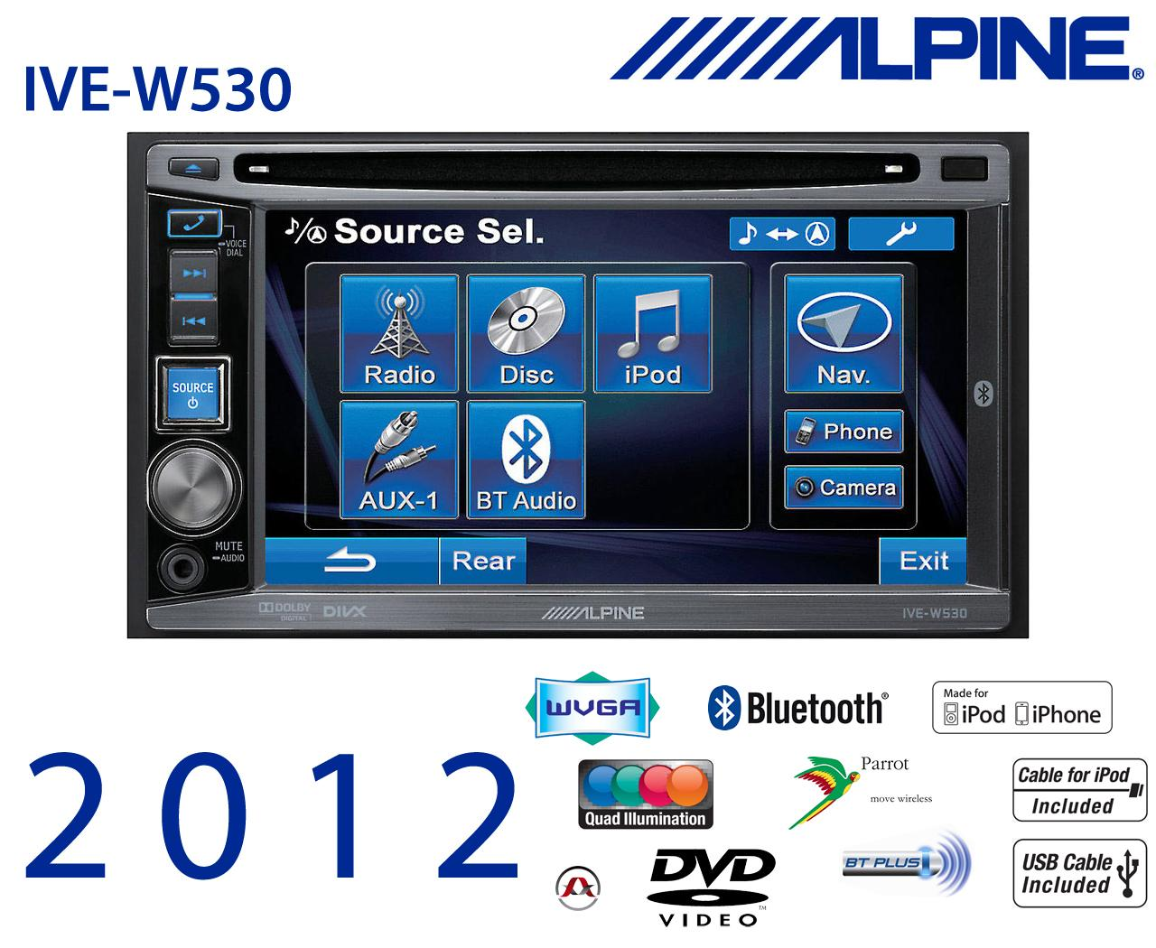 autoradio alpine autoradio ecran ive w530r station multimedia embarquee dvd divx usb. Black Bedroom Furniture Sets. Home Design Ideas