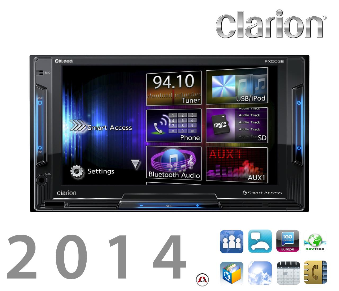 autoradio dvd clarion fx503e iphone androi 208643. Black Bedroom Furniture Sets. Home Design Ideas