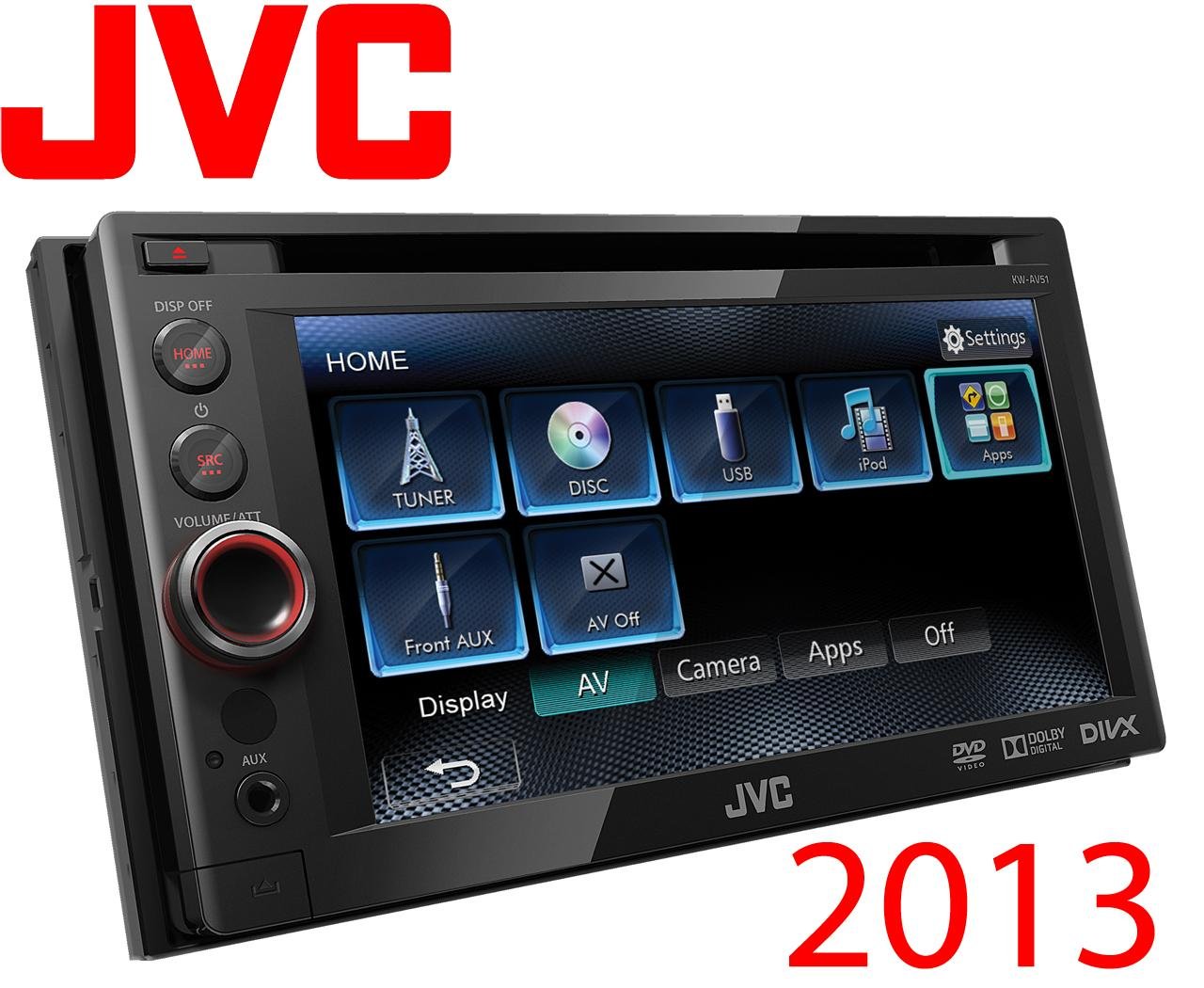 autoradio dvd jvc kw av51 2din dvd cd 191788. Black Bedroom Furniture Sets. Home Design Ideas