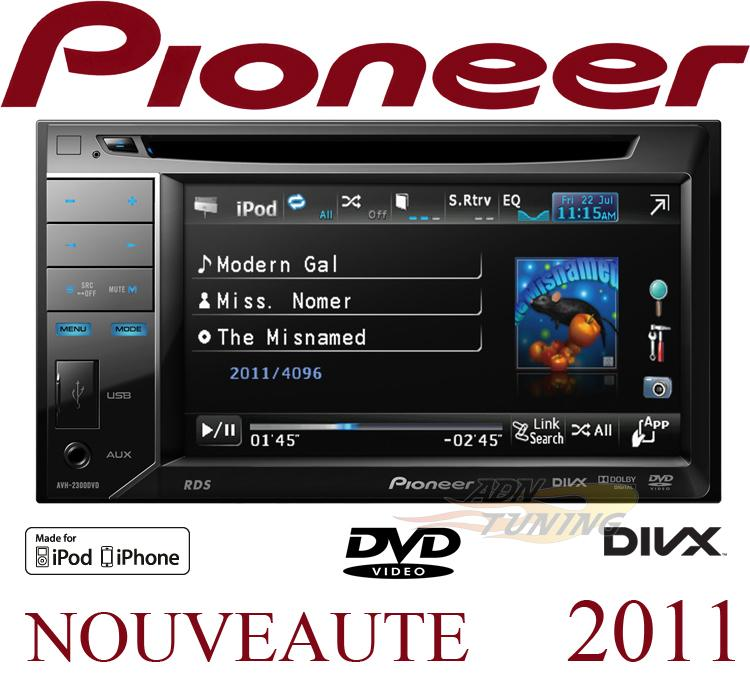 avh 2300dvd autoradio 2din dvd mp3 divx ecran ipod usb 2011 129338. Black Bedroom Furniture Sets. Home Design Ideas